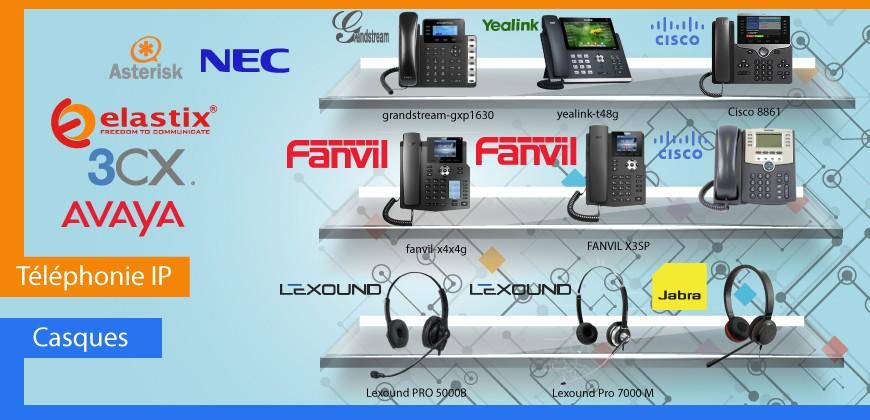 Téléphones IP & Casques